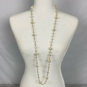Pearl and Beaded Long Necklace
